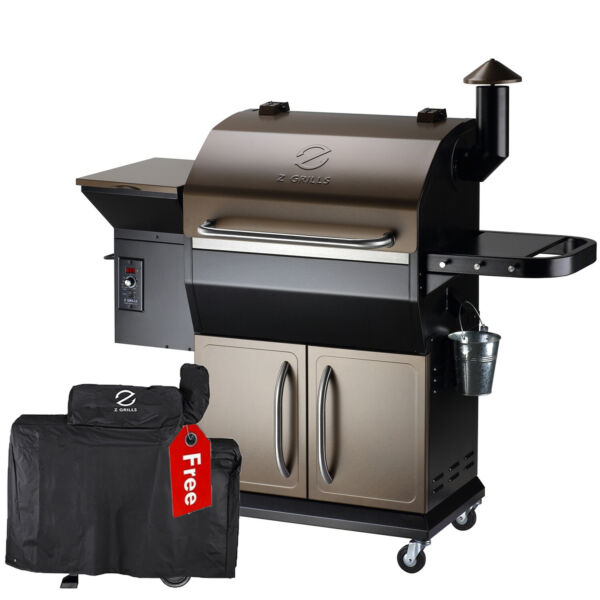 Z GRILLS Wood Pellet Grill BBQ Smoker Digital Control with Cover ZPG 1000D