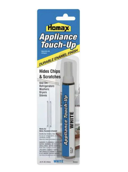 White Appliance Touch Up Paint High Gloss Finish Epoxy Fridge Dishwasher Scratch
