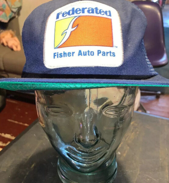 Snapback Patch Mesh Trucker Advertisement Federated Fisher Auto Parts Hat $15.30