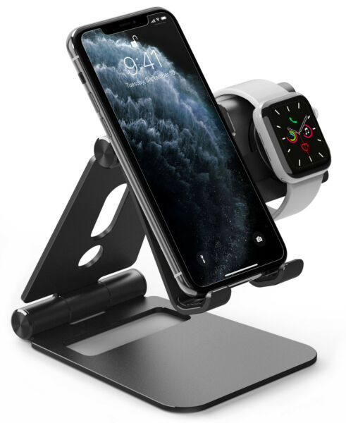 Apple Watch Samsung Galaxy Watch 4 Classic 3 Active 2 Mount Ringke Phone Stand $27.99