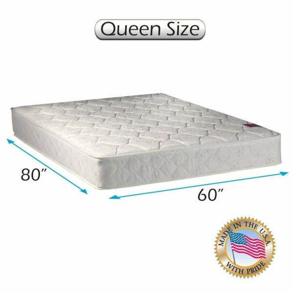 American Legacy Medium Firm Queen Innerspring Mattress Only with Mattress Cover