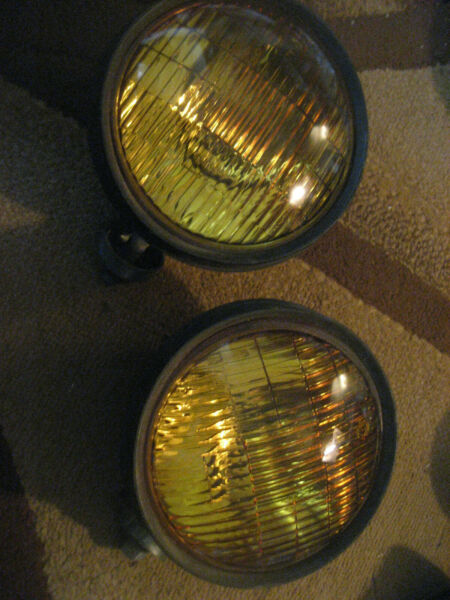 Signal-Stat Amber Police Municipal Warning Lights 9C1 P71 Fire Security