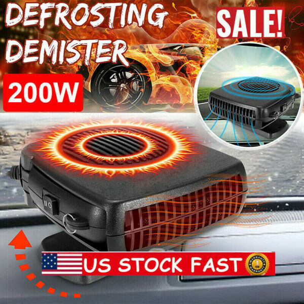 USA STOCK 12V DC Car Auto Portable Electric Heater Heating Cooling Fan Demister $11.99