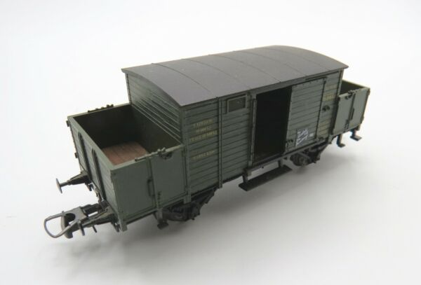 Vintage Trix HO  DC -  Green Kay B. - Partial Open Wagon - Clean Condition