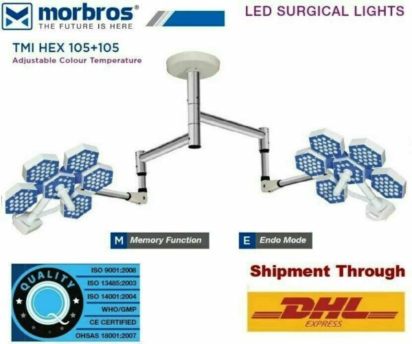 New LED SURGICAL LIGHT (HEX SERIES) Model : TMI HEX 105 + 105 Ceiling Light w3