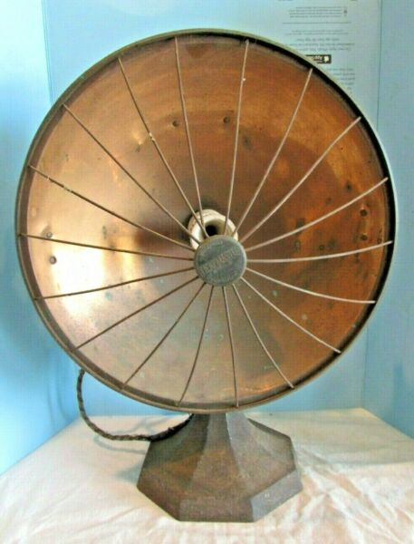 VINTAGE Copper HEATMASTER Sunbowl Table Heater MODEL 41 Base Element Adapter.