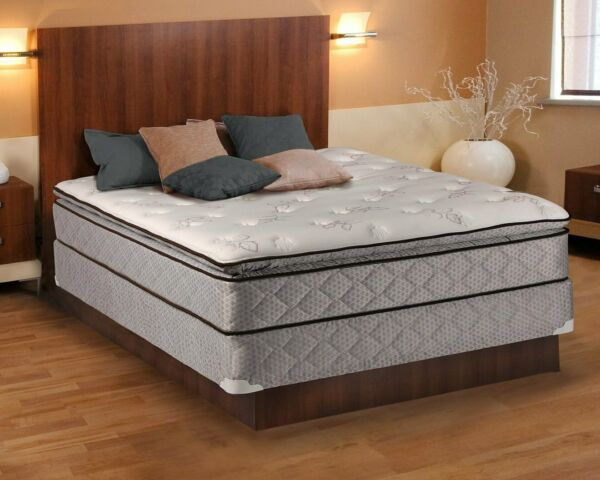 Madison Gentle Plush King Size Pillowtop Mattress Set with Mattress Cover