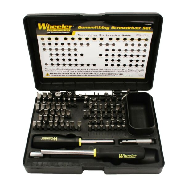 Wheeler 89 Piece Deluxe Gunsmithing Screwdriver Set Kit Black Yellow 562194