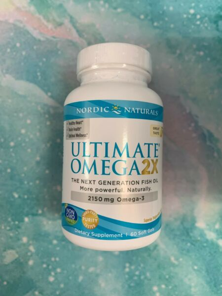 Nordic Naturals Ultimate Omega 2X Lemon Softgels 60 count EXP 01 2023 $24.95