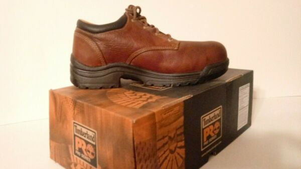 Timberland PRO Titan Oxford Safety Toe 47028 Slip Oil Abrasion Resistant EH $105.00