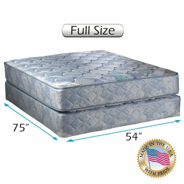 Chiro Premier Innerspring (Blue) Two-Sided Full Mattress Set with Mattress Cover