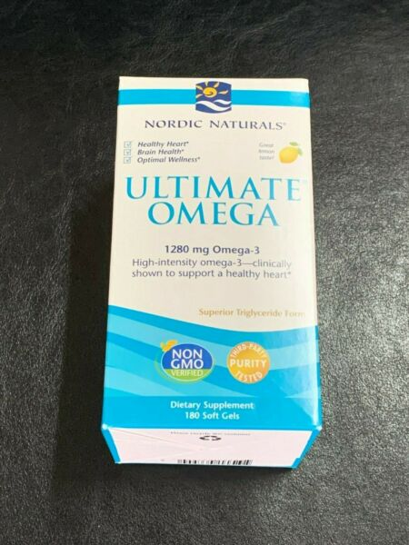 Ultimate Omega 1280 mg Nordic Naturals Support for a Healthy Heart 180ct 2022 $44.90
