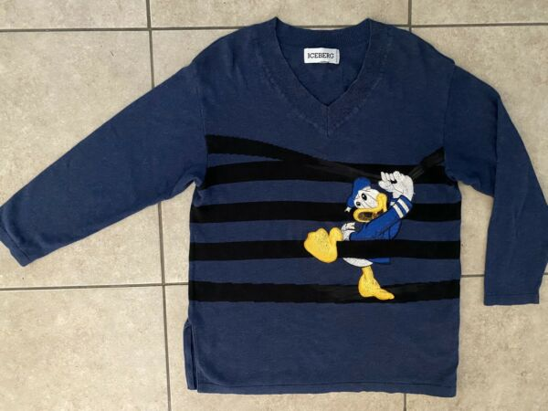 Vintage Iceberg Sweater Disney Donald Duck Golf Embroidered Size L Rare $200.00