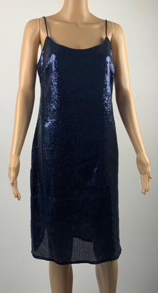 NWT Bebe Sexy Spaghetti Navy Blue Sequel Dress Size 8 Made In USA