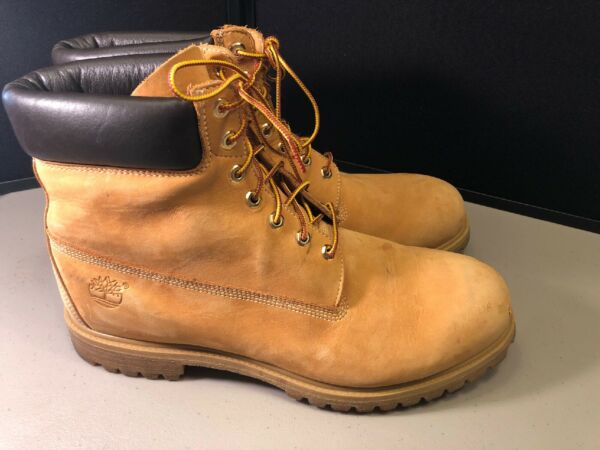 Men's Timberland Work Boots Size 15 Tan Leather $60.00