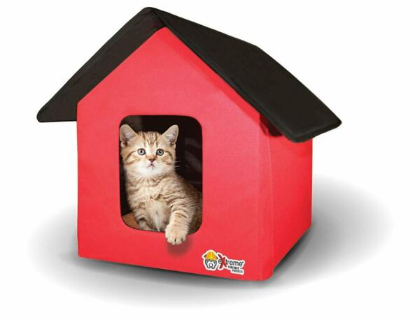 Collapsible IndoorOutdoor PetCat House - Heated and Standard
