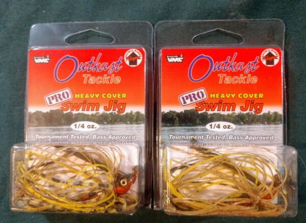 Outkast Tackle Heavy Cover Pro Swim Jig OSJH14P Perch 1 4 oz. New $6.45