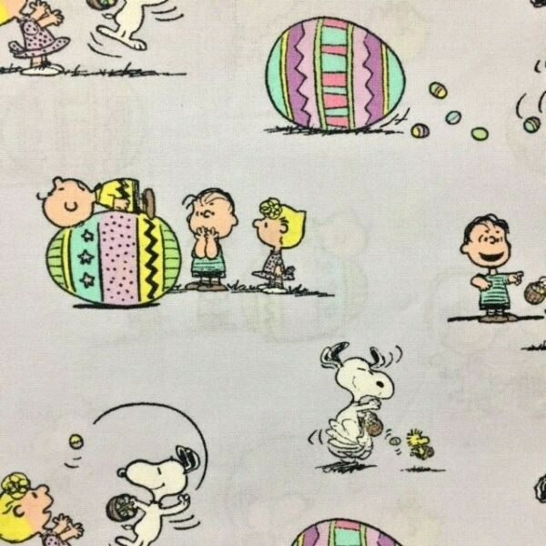Peanuts Snoopy Charlie Linus Easter Eggs Over Collar Slide On Dog Cat Bandana $7.50
