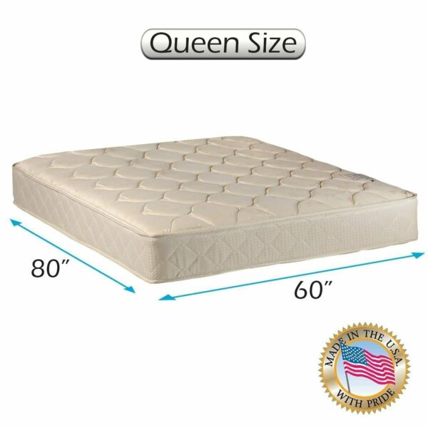 Comfort Classic Gentle Firm Queen 1-Sided Mattress Only with Mattress Cover