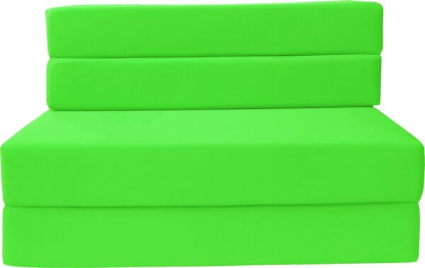 Twin Folding Foam Mattresses Sofa Beds Chairs Couches Ottoman Lime