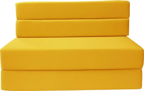 Full Size Folding Foam Mattresses Sofa Beds Chairs Couches Ottoman Yellow