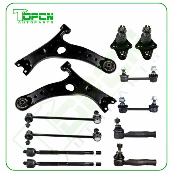 2001 03 For Toyota RAV4 12Pcs Front Rear Suspension Kit Sway Bars Control Arms $101.40