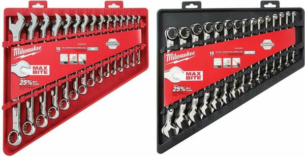 Milwaukee Max Bite Combination Wrench Sets Combo Complete Set
