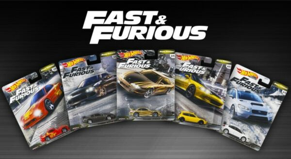 2020 Hot Wheels Fast & Furious Premium Fast Tuner Set of 5 164 Diecast Cars