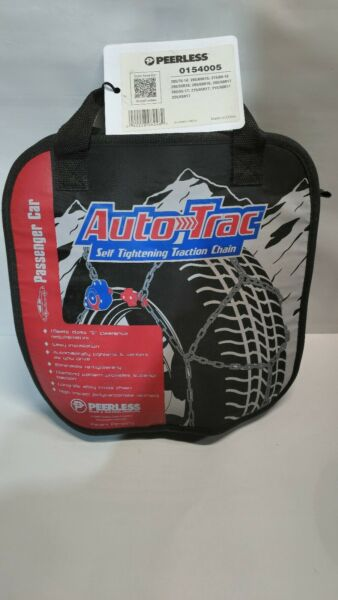Peerless Auto-Trac Tire chains 0154005 (for 2 tires) Self-Tightening Snow. BN