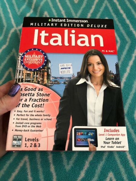 Learn How To Speak Italian With Instant Immersion Levels 1 3 Retail Box $8.75