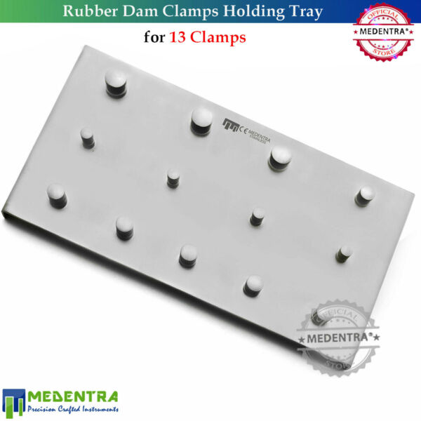 Dentistry Clinics Endodontic Rubber Dam Clamps Holding Tray For 13PCS MEDENTRA®
