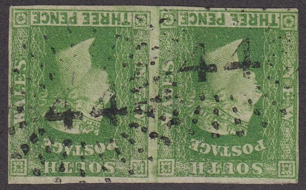 NSW numeral postmark 44 2 of YASS 2R22 rated R AU $60.00