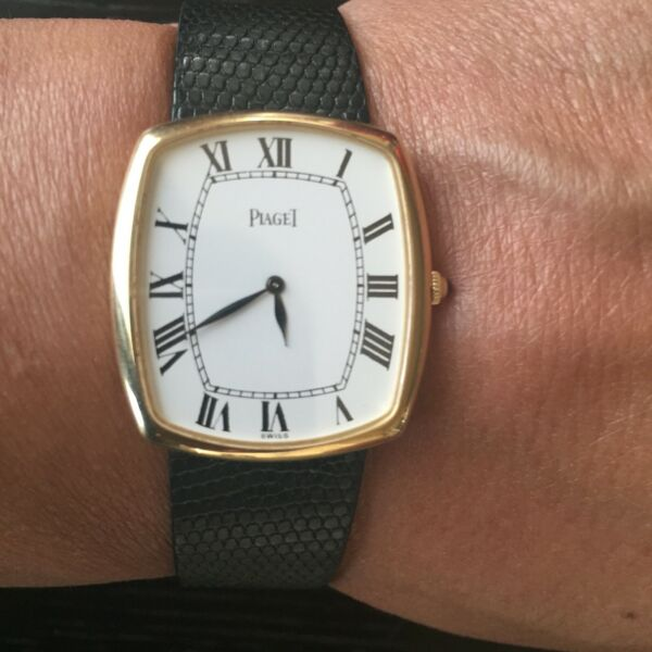Authentic Vintage Piaget Men's Classic Ultra-Thin Watch 18K Gold Model 9741