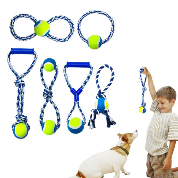 Dog Chew Toys Indestructible Cotton Braided Rope Toy For Puppy Large Teeth Clean $6.99