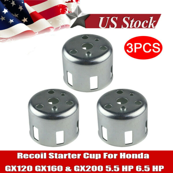 3x Recoil Starter Pull Flange Cup Cap For Honda GX160 GX200 5.5HP 6.5HP Engine