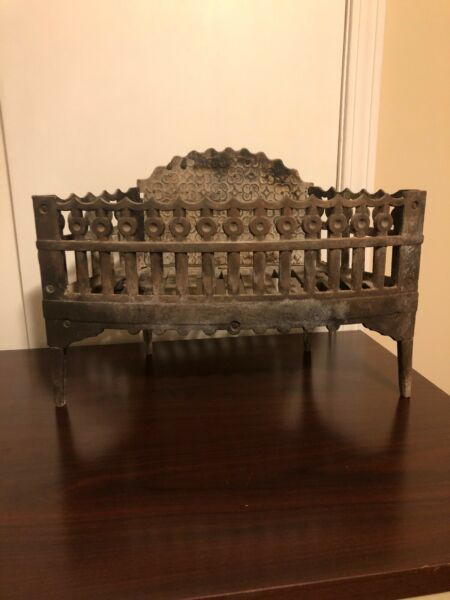Antique cast-iron fireplace grate Log Grate Coal Gate