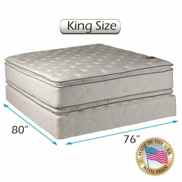 Dream Sleep Princess Gentle Plush King 2-Sided Mattress Set with Mattress Cover