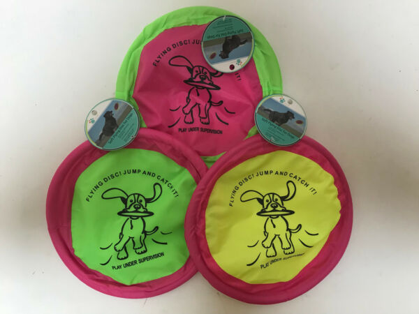 Lot of 3 Floppy Soft Flying Discs for Dogs 10