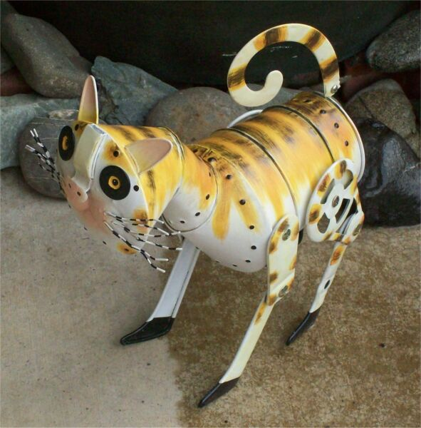 Pail Pal Cat Metal Sculpture Pails NIB