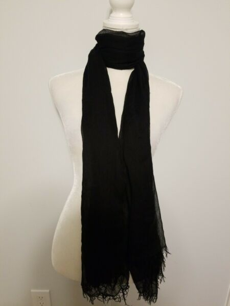 Forever 21 ultra light Scarf large Black one Size