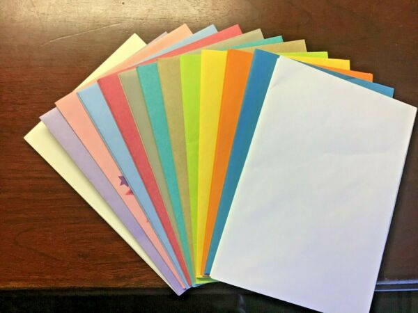 HALLMARK ENVELOPES size 5 X 7 1/4 for GREETING CARDS 11 Colors Total 30 Envelope