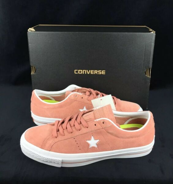 NEW Converse One Star Suede Ox Low Pink Blush White Mens Shoes Sneakers Size 11