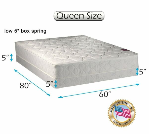Dream Sleep Legacy 1-Sided Queen Mattress and Low 5