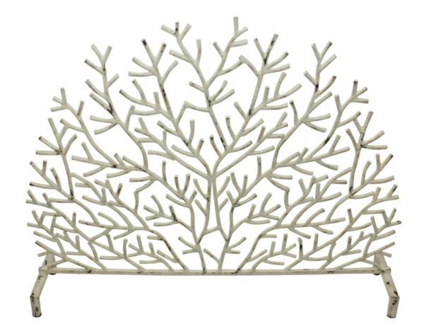 FIREPLACE SCREENS quot;RAINBOW REEFquot; CORAL DESIGN FIRE SCREEN ANTIQUE IVORY