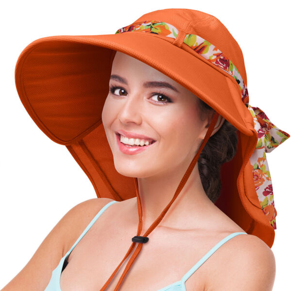 Sun Hats for Women Large Wide Brim Cap UV Protection Summer Beach Hat Outdoor
