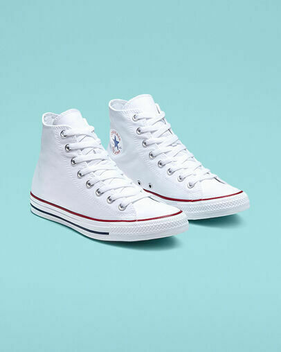 Converse Chuck Taylor All Star High Optical White Unisex Shoes $60
