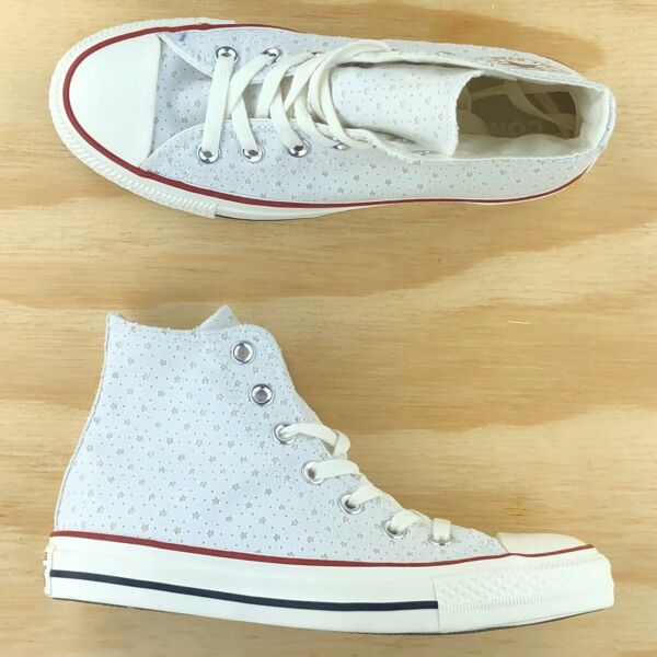Converse Chuck Taylor All Star High Top CTAS White Red Blue Shoes 160514F Size
