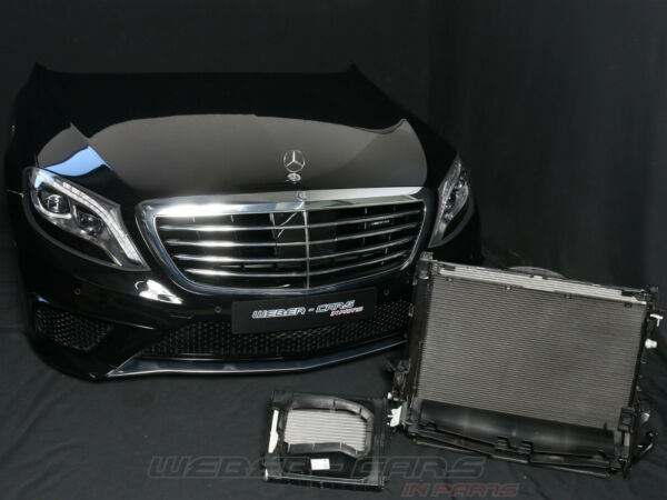 MB W222 S63 AMG 585PS Cooling Fan Front Package Bonnet Bumper LED Headlights