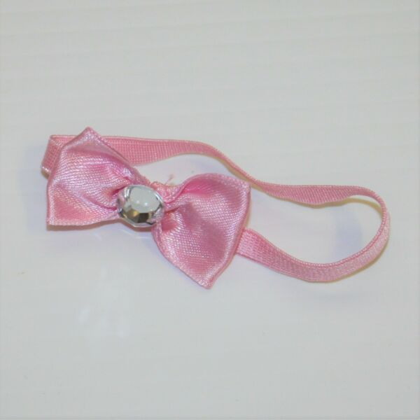 American Girl Fancy Pet Outfit Pink Ribbon & Rhinestone Bow Headband Only $6.99