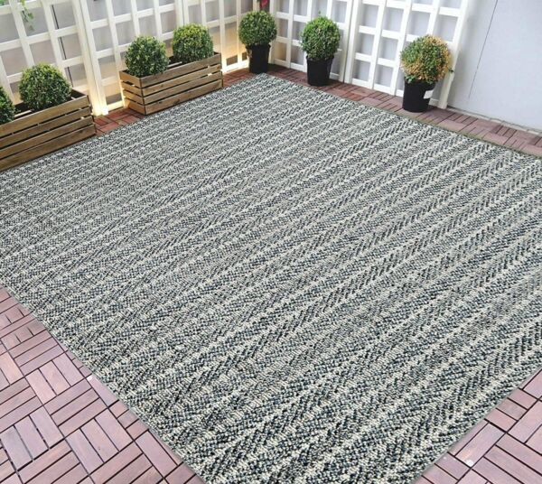 Indoor Outdoor Rugs 5x7 water proof Gray Outdoor Carpet 8x10 3 D Pattern